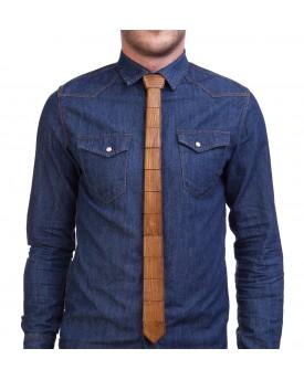 Ръчно изработена дървена вратовръзка 1