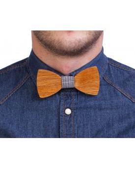 Ръчно изработена дървена папионка 5