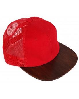 Ръчно изработена шапка с дървена козирка 2