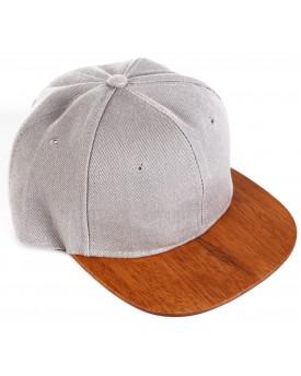 Ръчно изработена шапка с дървена козирка 1