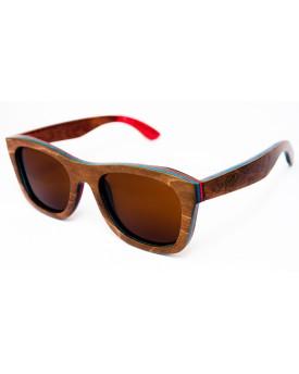 Дървени слънчеви очила Skateboard Wood 48